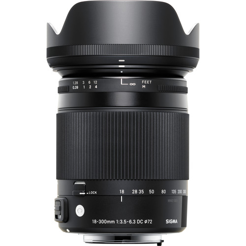 Sigma 18-300mm f/3.5-6.3 DC Macro OS HSM Contemporary Lens for Canon