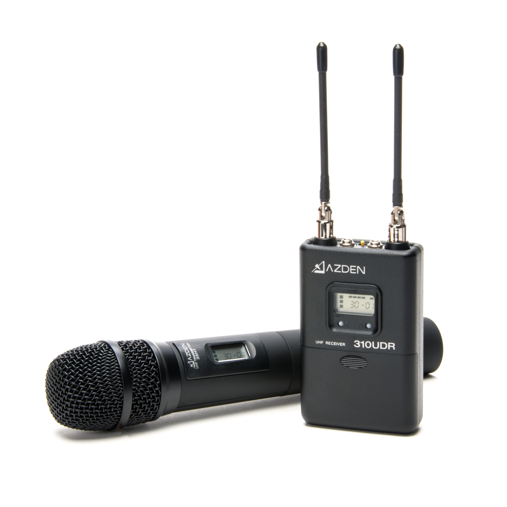 Azden 310HT UHF On-Camera Hand-Held System 566.125-589.875 MHz Tx-Rx Kit