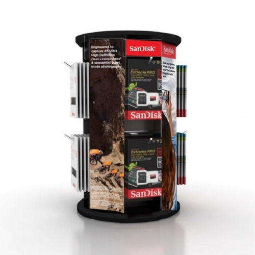 SanDisk Point of Sale Counter Spinner Display Stand
