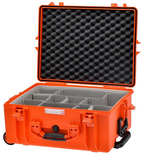 HPRC 2600W - Wheeled Hard Case with Second Skin Divider (Orange)