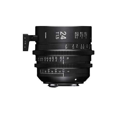 Sigma 24mm T1.5 Cine Lens for PL Mount