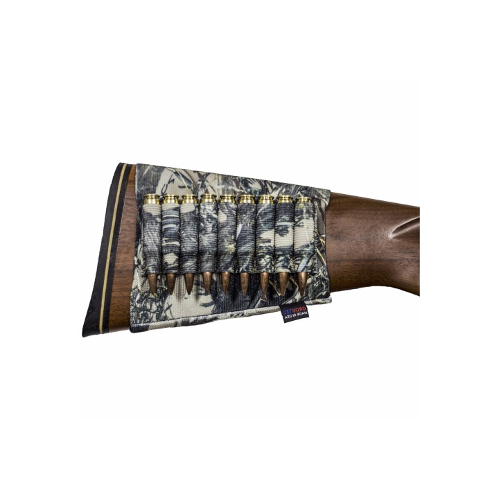 Grovtec Buttstock Cartridge Shell Holder Rifle Open Style (TrueTimber Camo)
