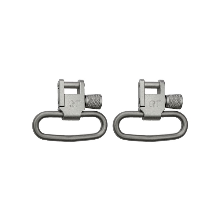 Grovtec Locking Swivels Satin Nickel Plated - 1.25