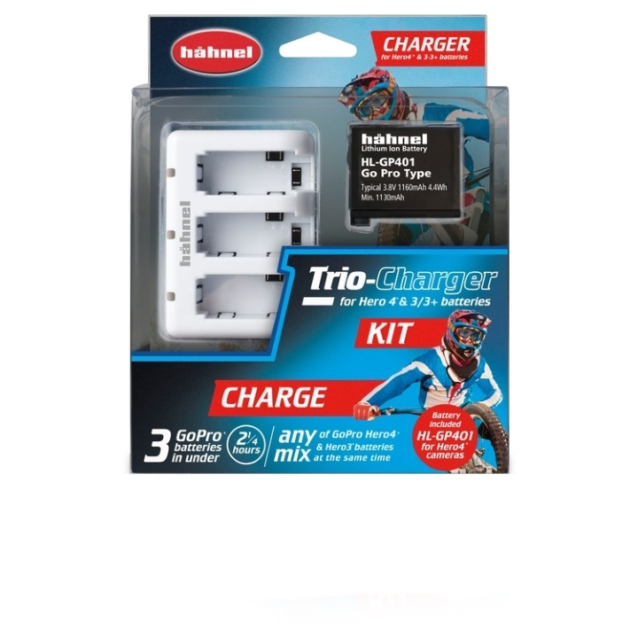 Hahnel Trio Charger for GoPro Hereo3/3+/4 include Battery