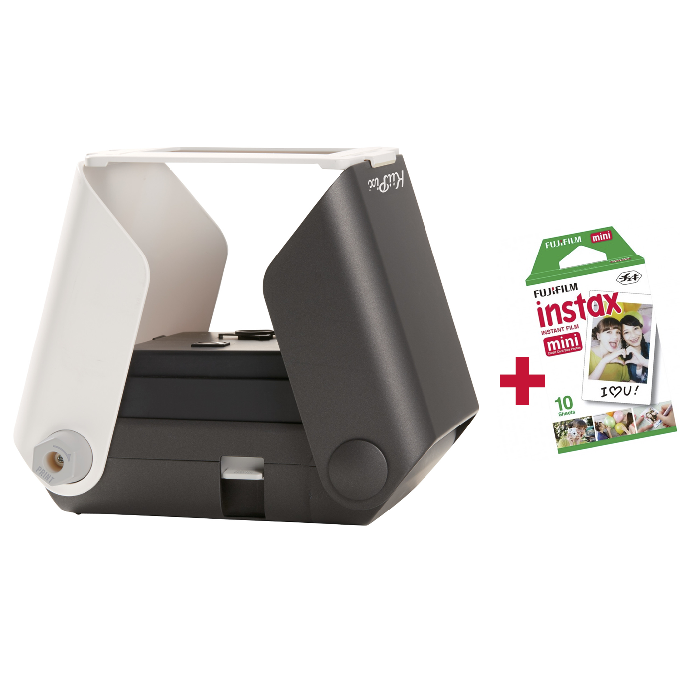 KiiPix SmartPhone Printer Instax Bundle - Jet Black