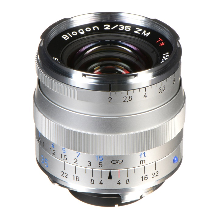 Zeiss Biogon 35mm f/2.0 ZM Silver for Leica M-Mount