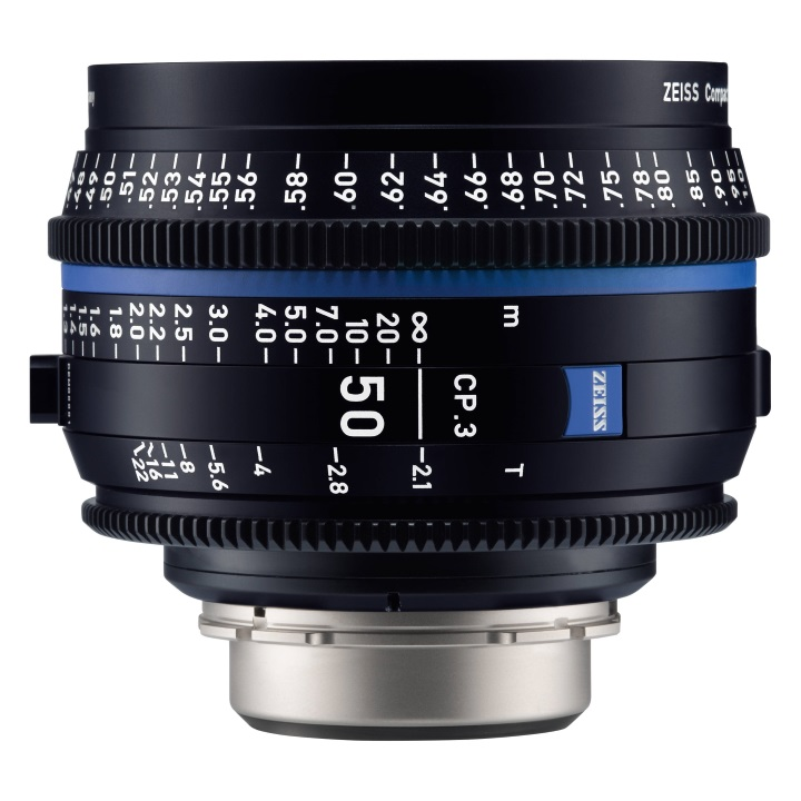 Zeiss CP.3 50mm/T2.1 Feet Compact Prime Cine Lens for Canon EF Mount