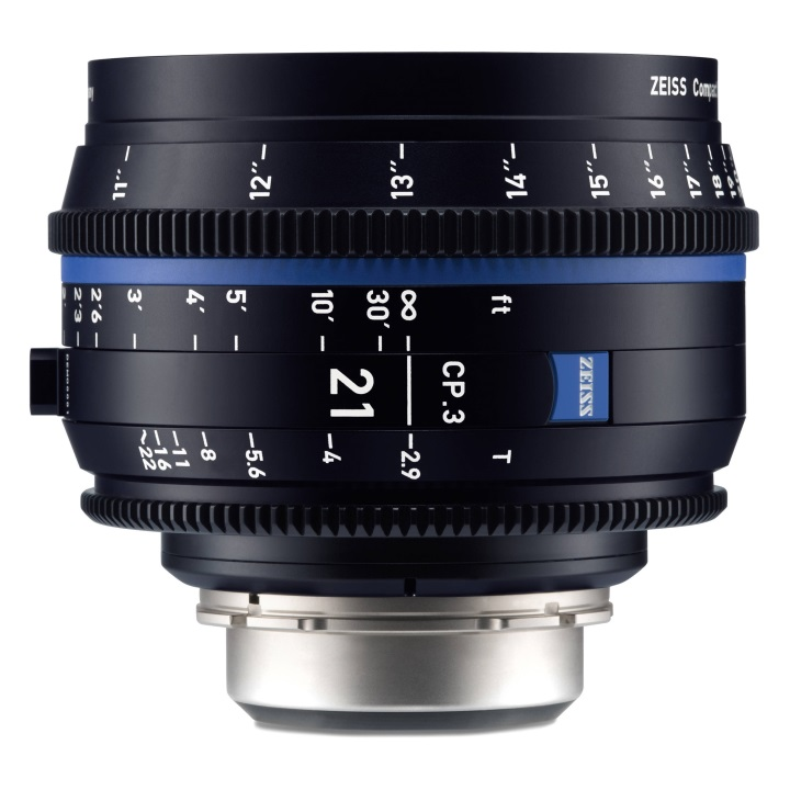 Zeiss CP.3 21mm/T2.9 Feet Compact Prime Cine Lens for Canon EF Mount