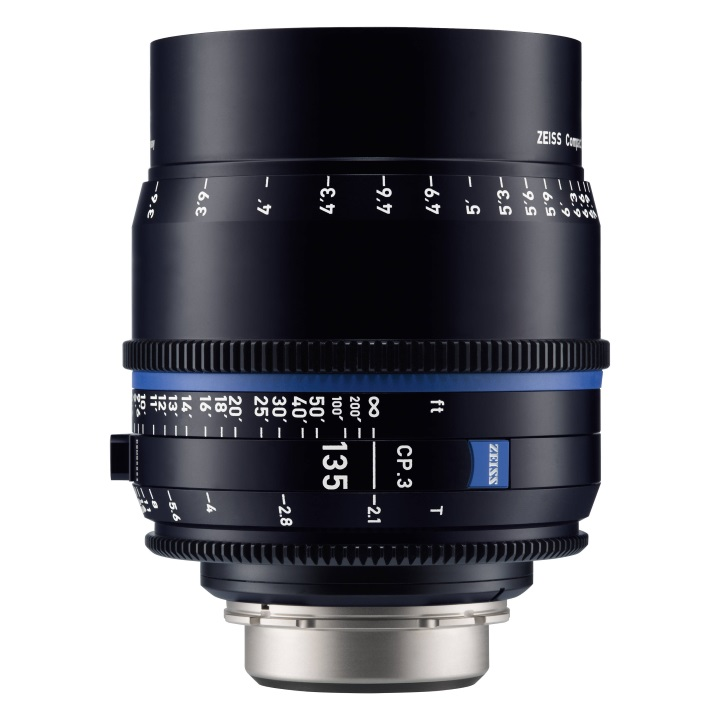 Zeiss CP.3 135mm/T2.1 Feet Compact Prime Cine Lens for Canon EF Mount