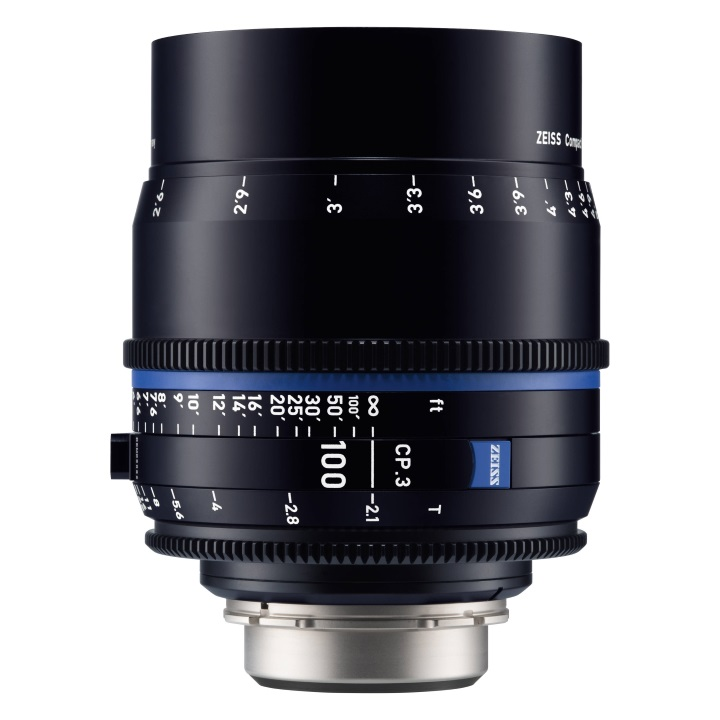 Zeiss CP.3 100mm/T2.1 Feet Compact Prime Cine Lens for PL Mount