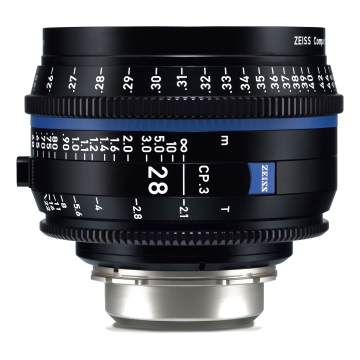 Zeiss CP.3  28mm/T2.1 feet Compact Prime Cine Lens for Canon EF Mount
