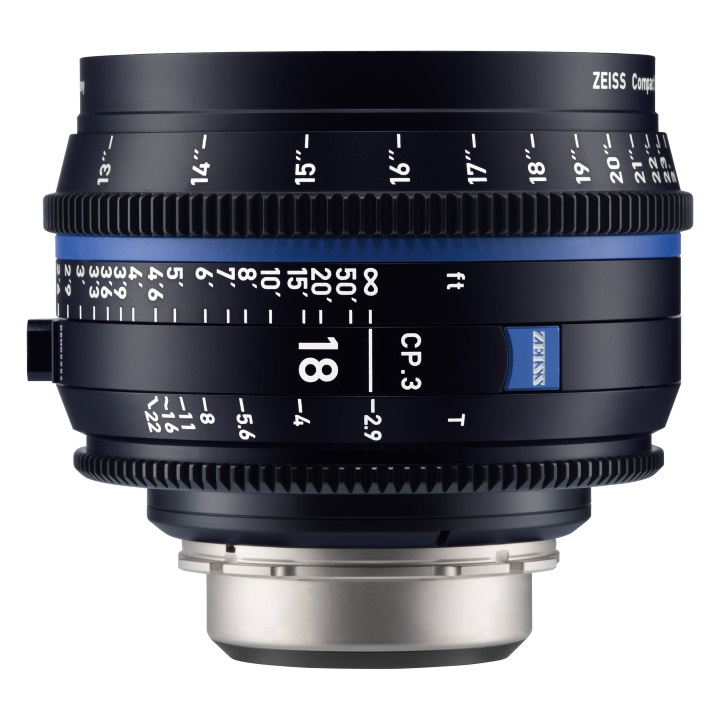 Zeiss CP.3 18mm/T2.9 Feet Compact Prime Cine Lens for Canon EF Mount