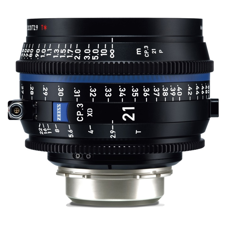 Zeiss CP.3 21mm T2.9 PL feet XD eXtended Data