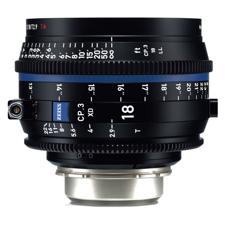 Zeiss CP.3 18mm T2.9 Feet XD eXtended Data Compact Prime Cine Lens for PL Mount