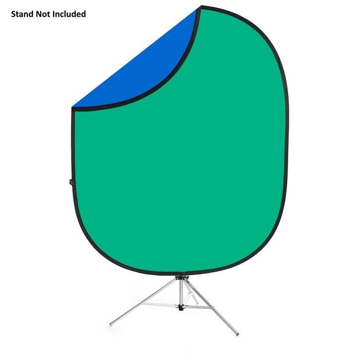 Savage Folding Green/Blue Collapsible Backdrop