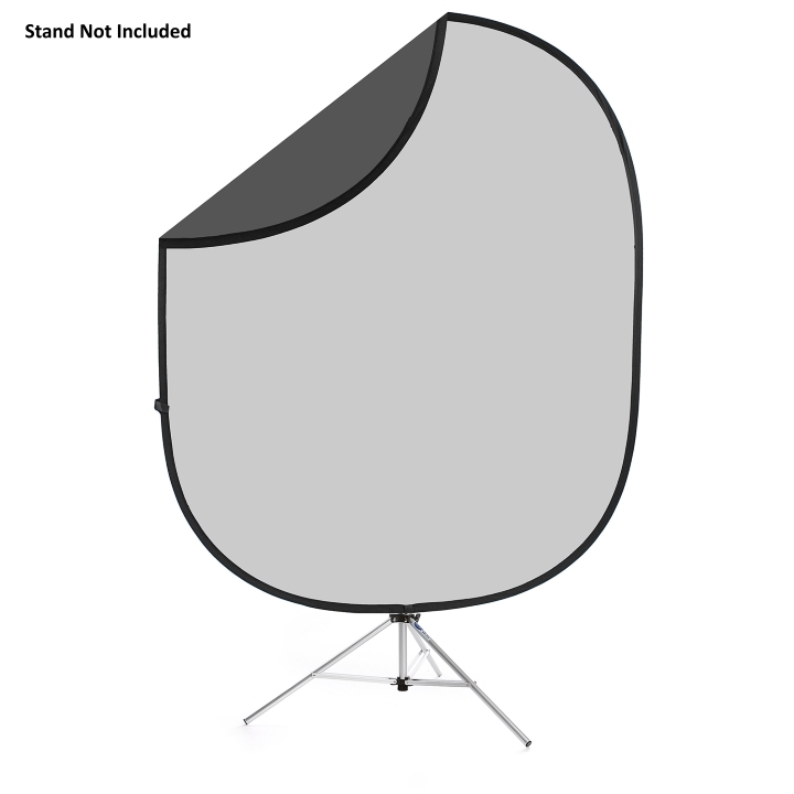 Savage Folding Dark / Light Gray Collapsible 1.83m x 2.13m Backdrop