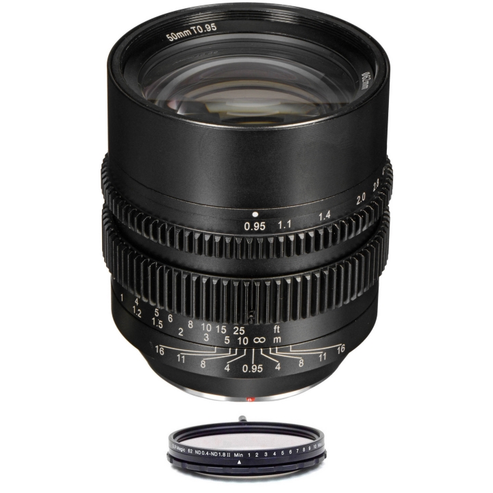 SLR Magic HyperPrime Bundle 50mm T0.95 lens & 62mm variable ND (II) MFT Mount