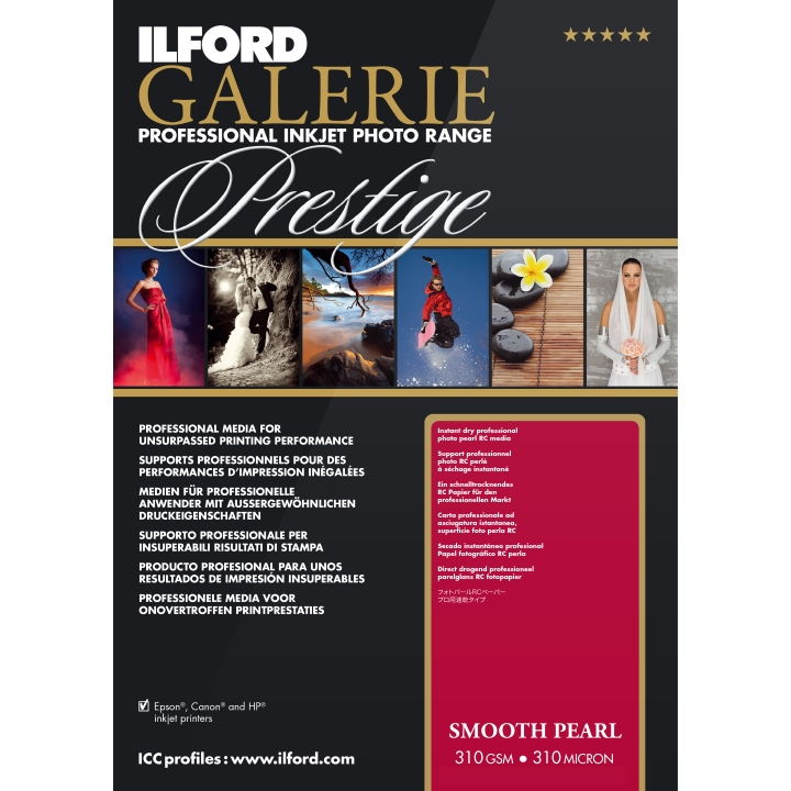Ilford Galerie Prestige Smooth Pearl 310gsm A4 100 Sheets GPSPP