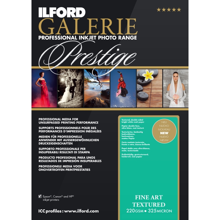 Ilford Galerie Fine Art Textured 220gsm A3 25 Sheets GPFAT