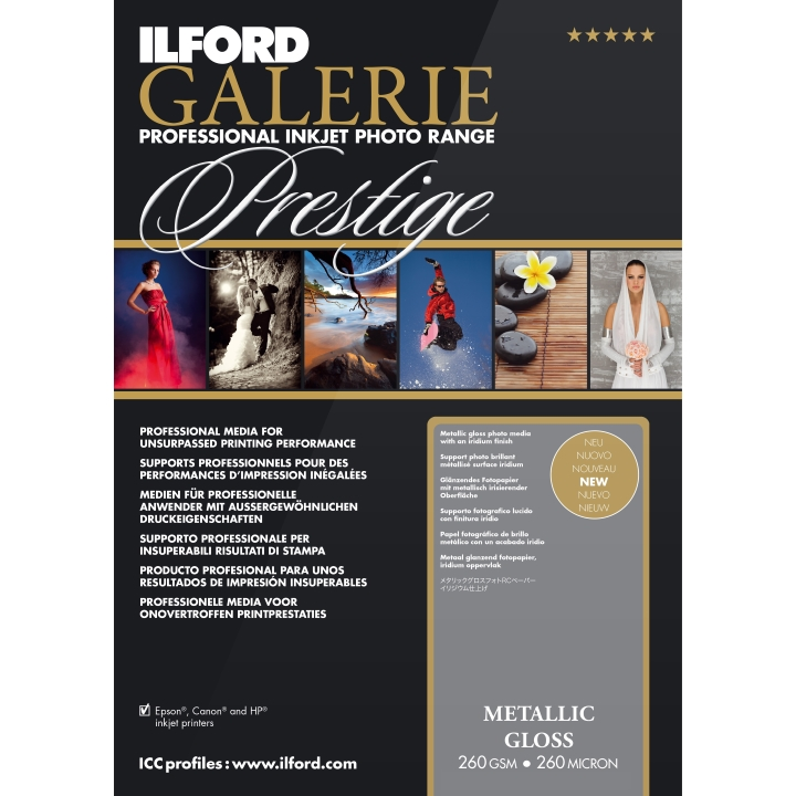Ilford Galerie Metallic Gloss 260gsm A4 100 Sheets GPMG10