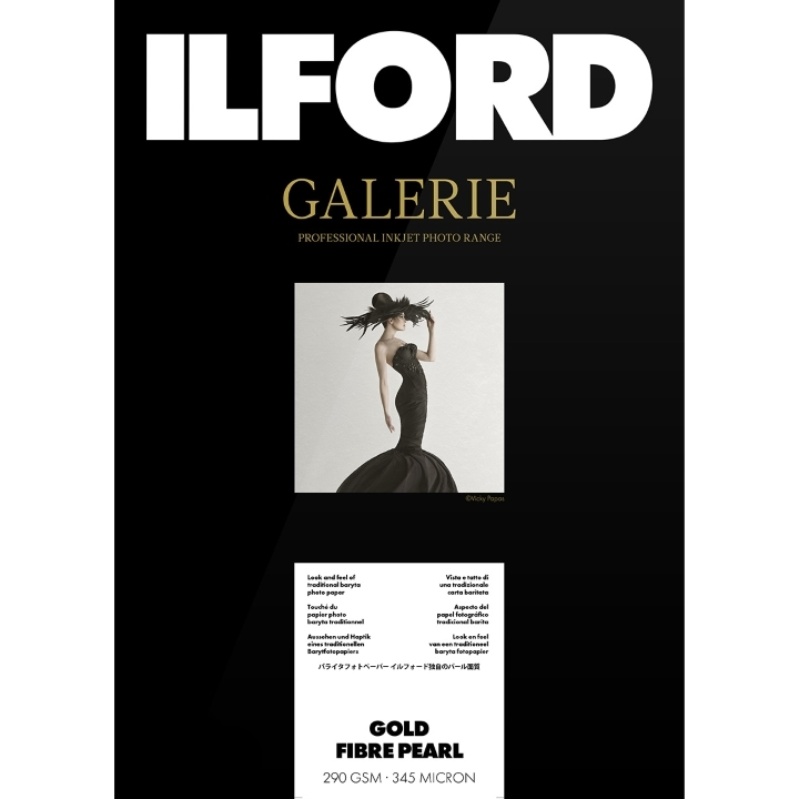 Ilford Galerie Gold Fibre Pearl 290gsm A2 42cm x 59.4cm 50 sheets
