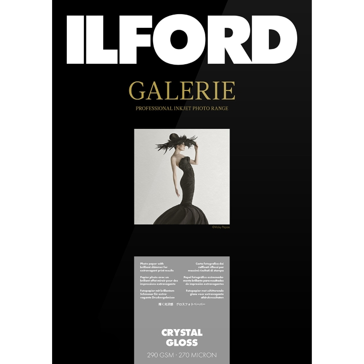 Ilford Galerie Crystal Gloss 290gsm A2 42cm x 59.4cm 50 Sheets