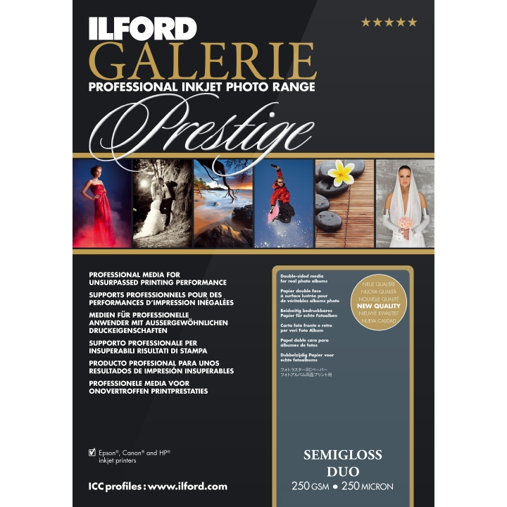 Ilford Galerie Semi-Gloss Duo 250gsm A4 100 Sheets GPSGD
