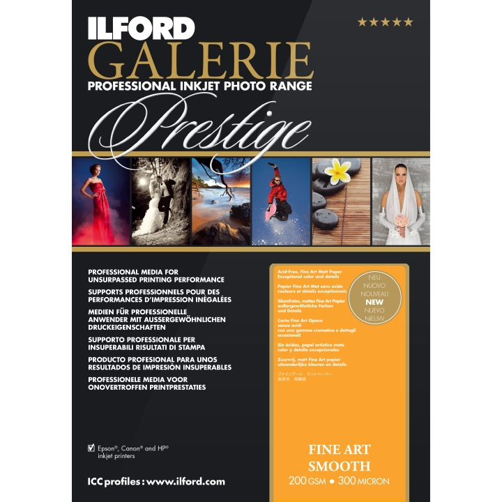 Ilford Galerie Fine Art Smooth 200gsm A4 25 Sheets GPFAS