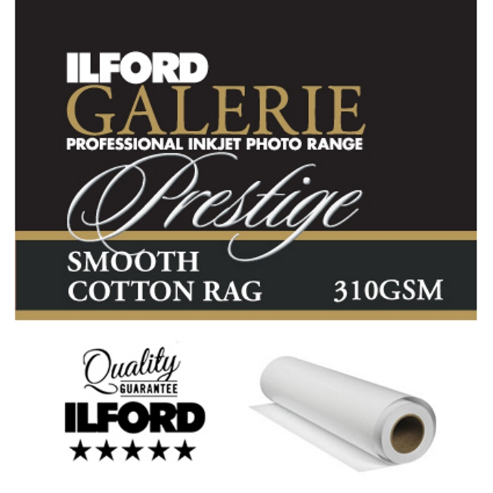 "Ilford Galerie Smooth Cotton Rag 310gsm 60"" 152.4cm x 15m Roll GPSC19"