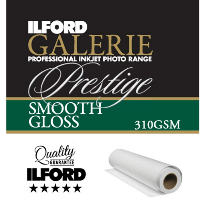 "Ilford Galerie Prestige Smooth Gloss 310gsm 17"" 43.2cmx27m Roll GPSGP"