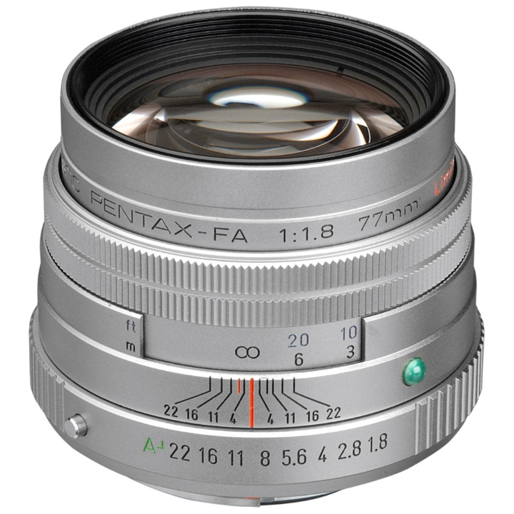 Pentax FA 77mm f/1.8 Limited Lens (Silver)