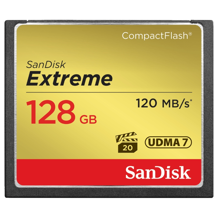 SanDisk Extreme CompactFlash 128GB 120MB/s R, 85MB/s W