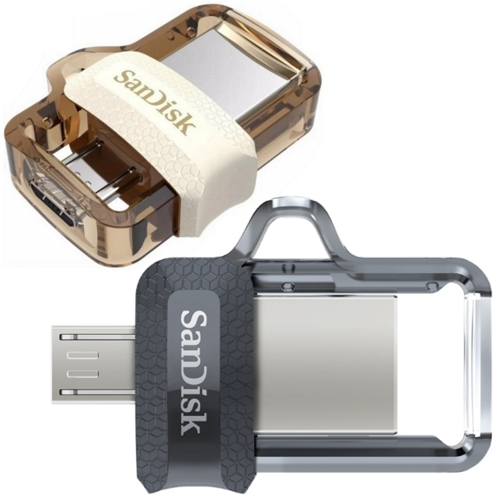 SanDisk Ultra Dual m3.0 SDDD3 USB3.0 Micro-USB Connector ,Up to 150MB/s Read speed