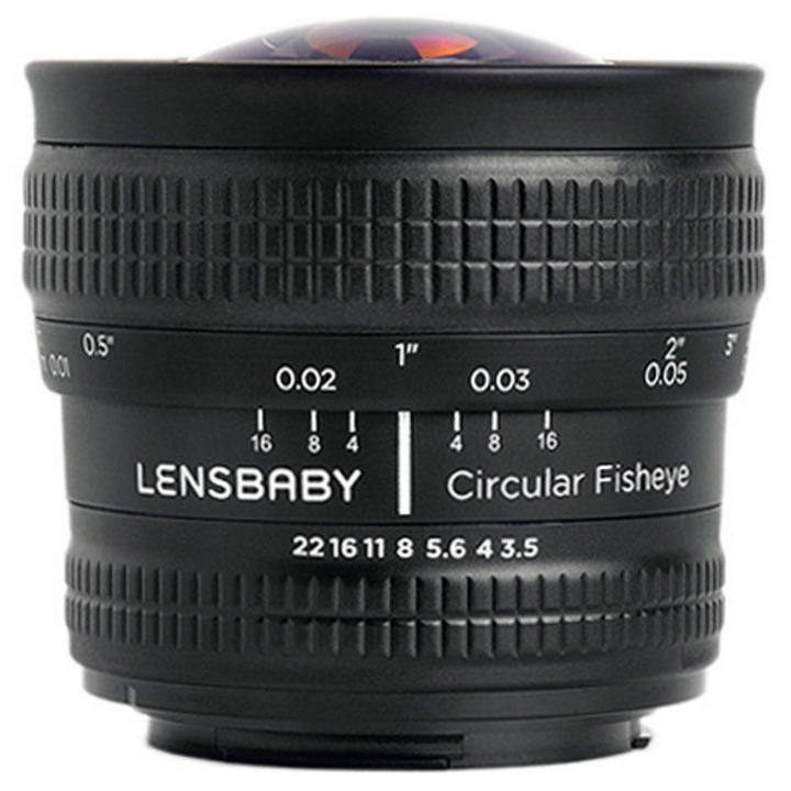 Lensbaby 5.8mm f/3.5 Circular Fisheye Lens for Canon EF ***