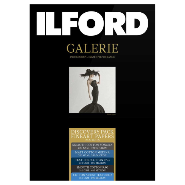 Ilford Galerie Discovery Pack Fine Art Rag A4 25 Sheets