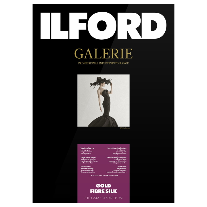 Ilford Gold Fibre Silk Pages 33x33 (330mm x 365mm) - Square