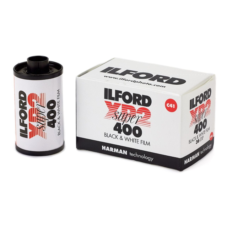 Ilford XP2 Super ISO 400 35mm 36 Exposure Black & White Film