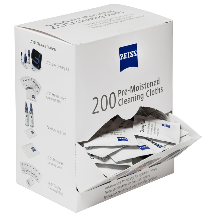 Zeiss Pre-Moistened Lens Cleaning Cloths - 200 Pack