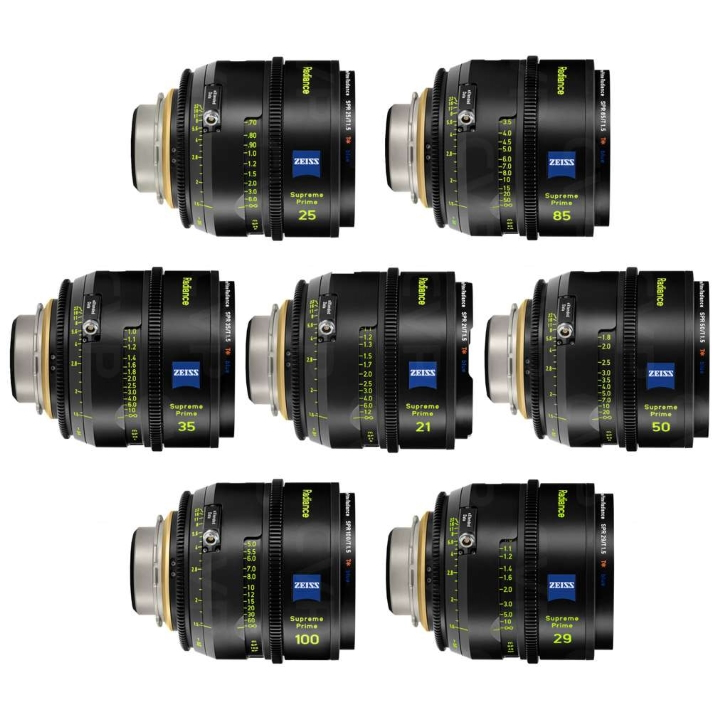 Zeiss Supreme Prime Radiance Set PL Mount (21mm, 25mm, 29mm, 35mm, 50mm, 85mm, 100mm)