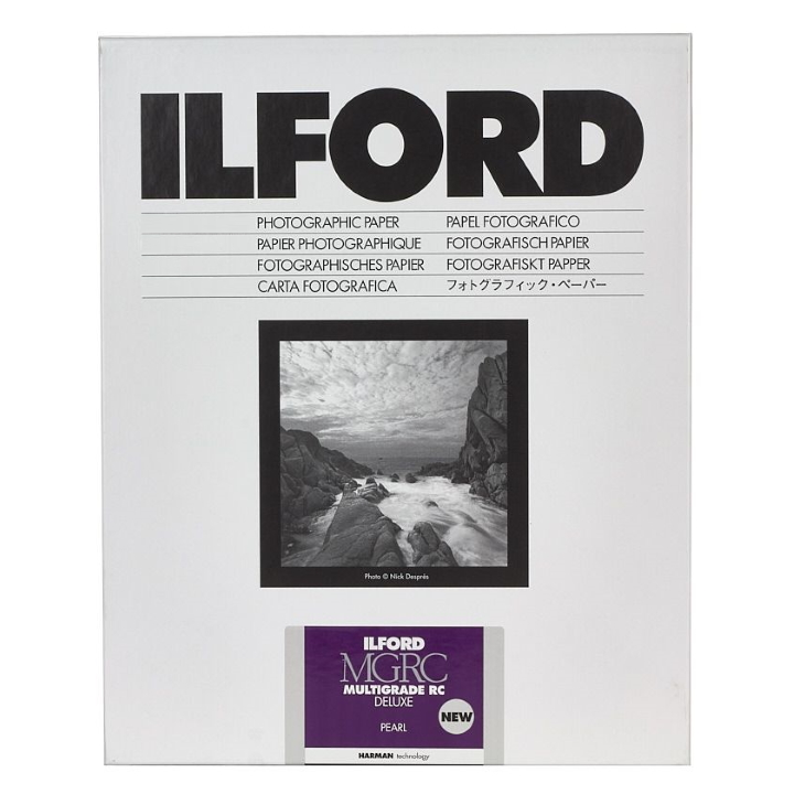 Ilford Multigrade Deluxe Pearl 20.3cm x 25.4cm 50 Sheets MGRCDL44M