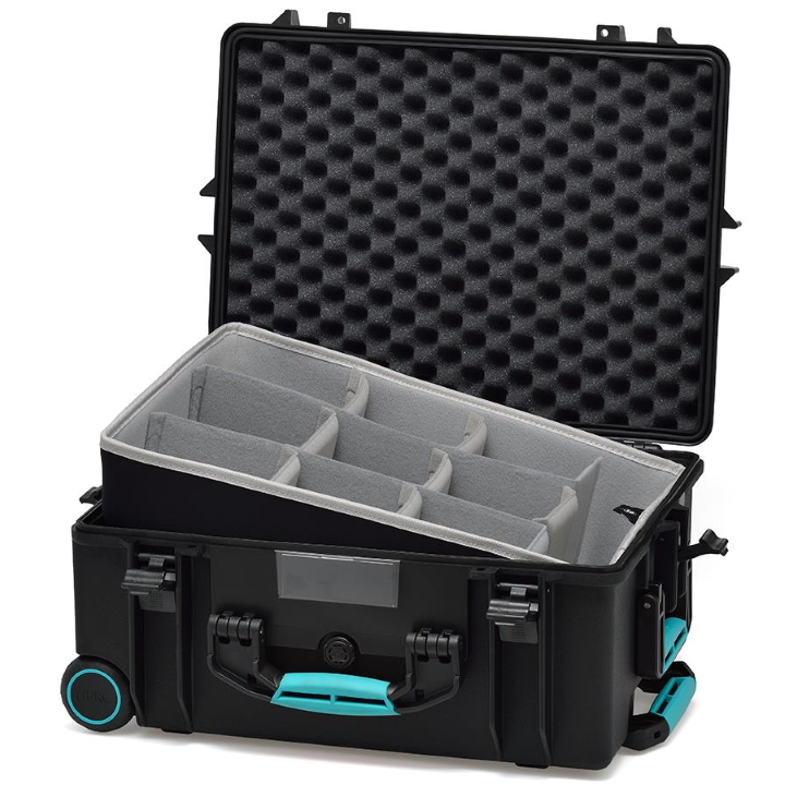 HPRC 2600W - Wheeled Hard Case with Second Skin Liner & Dividers - Blue / Grey