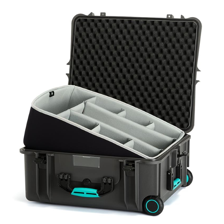 HPRC 2700W - Wheeled Hard Case with Second Skin Liner & Dividers - Blue / Grey
