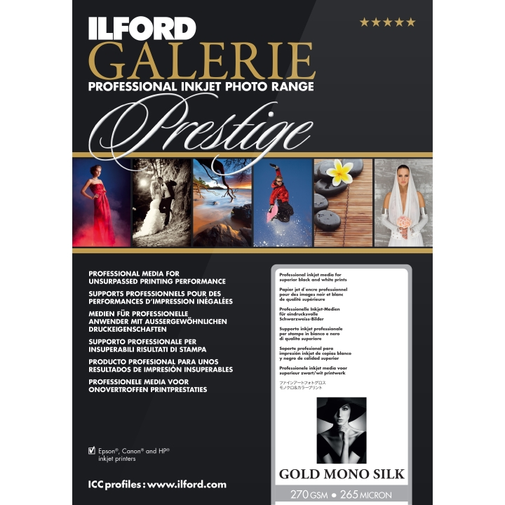 Ilford Galerie Gold Mono Silk Photo Paper Rolls (270GSM)