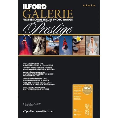 Ilford Galerie Fine Art Smooth 220gsm A3+ 25 Sheets GPFAS