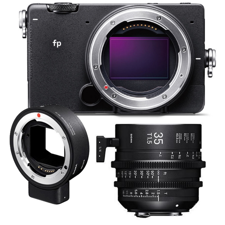 SIGMA FP DIGITAL CAMERA + SIGMA 35mm T1.5 Cine Lens for Canon EF + MC-21 Adap EF-L
