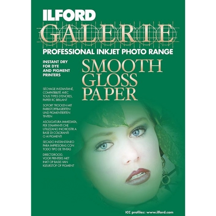Ilford Galerie Smooth Gloss Paper 290gsm A4 25 Sheets IGSGP9