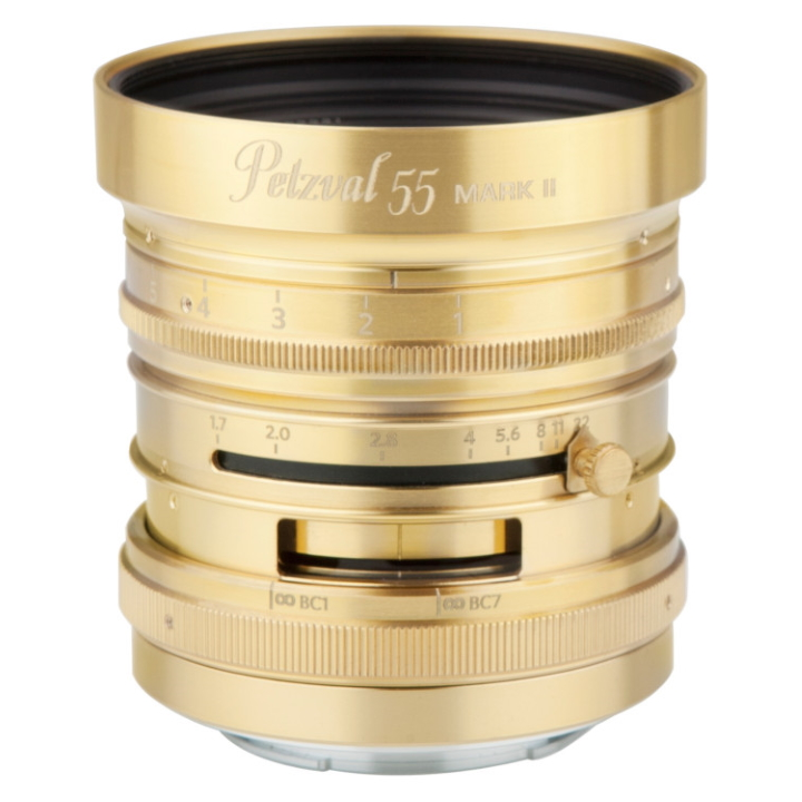 Petzval 55mm f/1.7 MKII CAN RF Bokeh Control - Brass Varnish