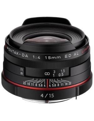 Pentax DA 15mm f/4 Limited ED AL HD Lens (Black)