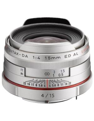 Pentax DA 15mm f/4 Limited ED AL HD Lens (Silver)