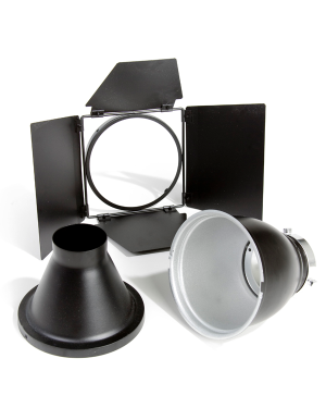 Bowens Basic Reflector Kit Inc 60d Reflector Snoot And 4 Leaf Barn Door